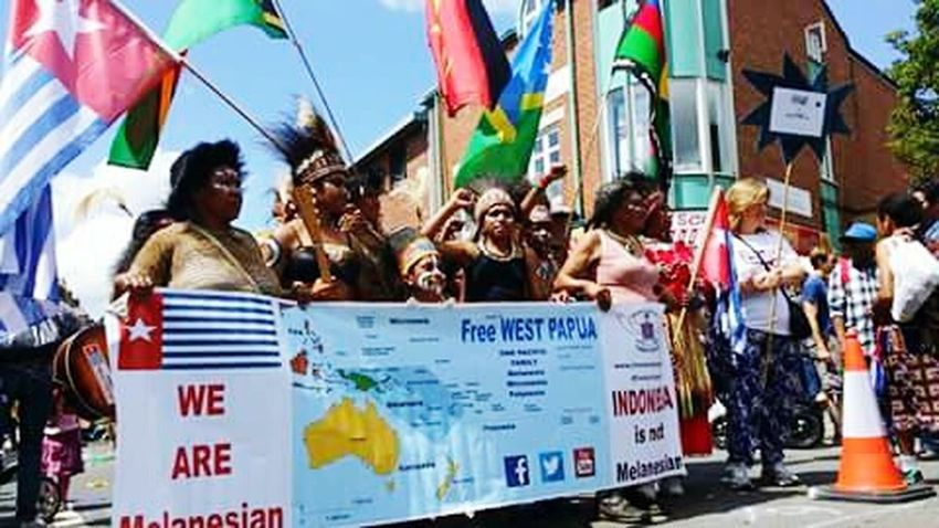 Outdoors Participant Uniform Of West Papua Tradition West Papua Want To Free Of Indonesia Colonial. Papua Free Of Indonesia Colonial West Papua Politic Of Freedom West Papua Flag West Papua Culture Flag Patriotism