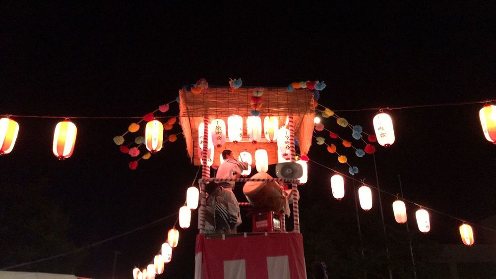 提灯 ちょうちん Lantern Illuminated 祭 まつり Night 盆踊り Bonodori Dance Festival From My Point Of View Summer Traditional Festival 。