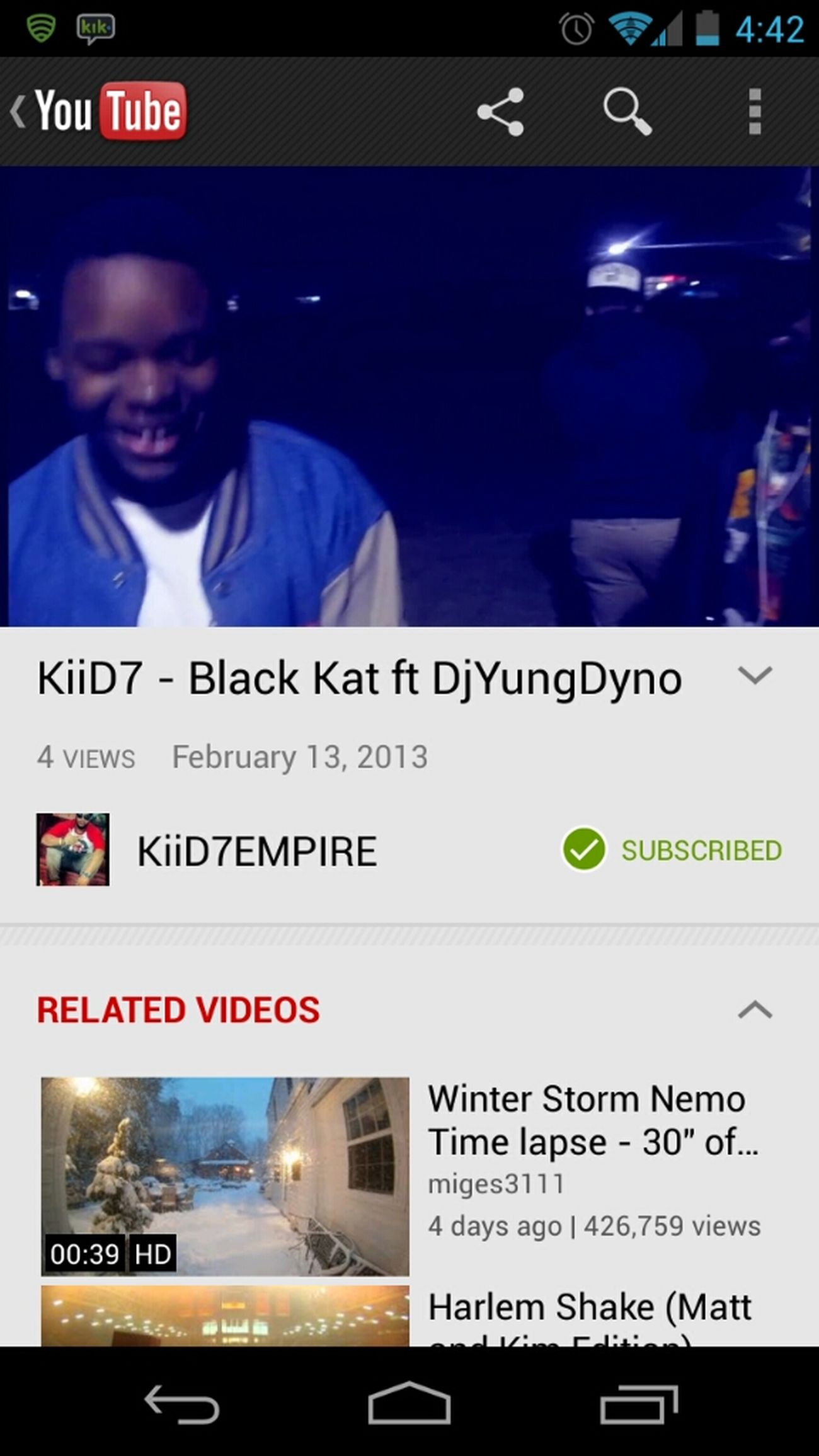 go watch the new music video black Kat by KiiD7 ft me >>>> https://www.youtube.com/watch?v=67SgNp7dy5s&feature=youtube_gdata_player