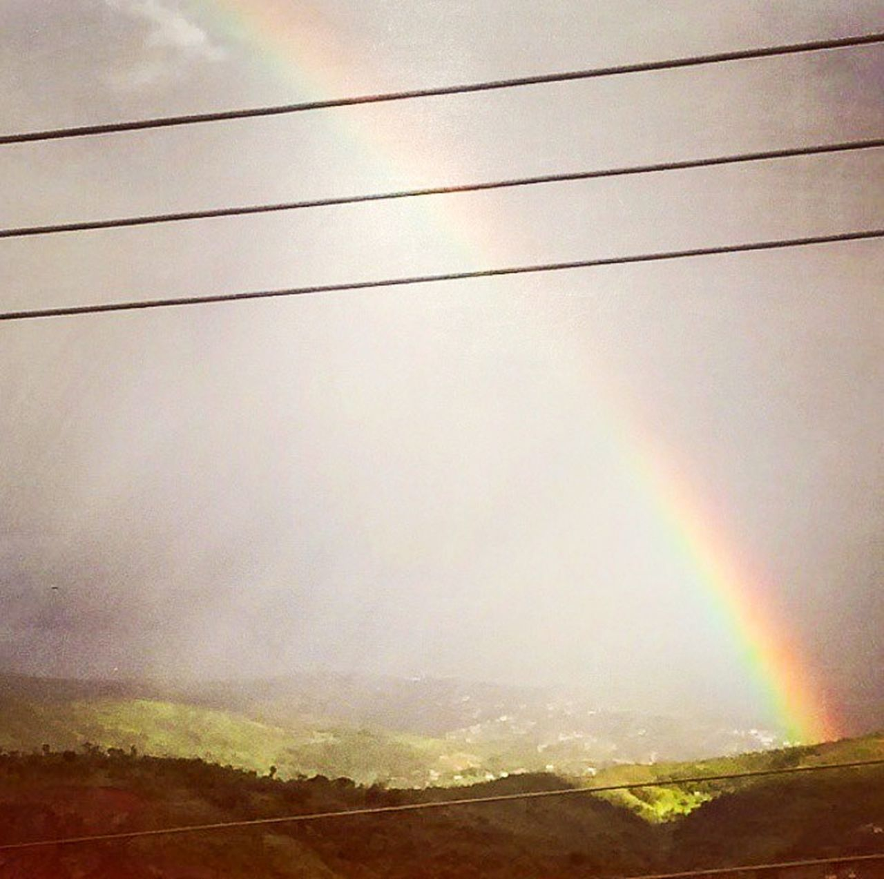 nature, landscape, scenics, outdoors, beauty in nature, rainbow, no people, sky, tranquility, day, sunset, mountain