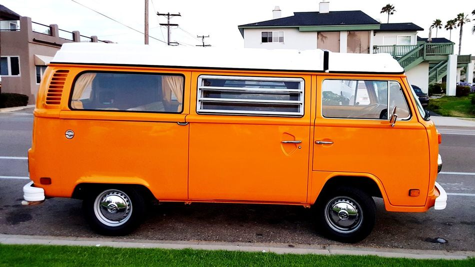 Respect a classic. Mode Of Transport Transportation Outdoors Land Vehicle Day Mysterymachine Van Volkswagon No People Orange Color