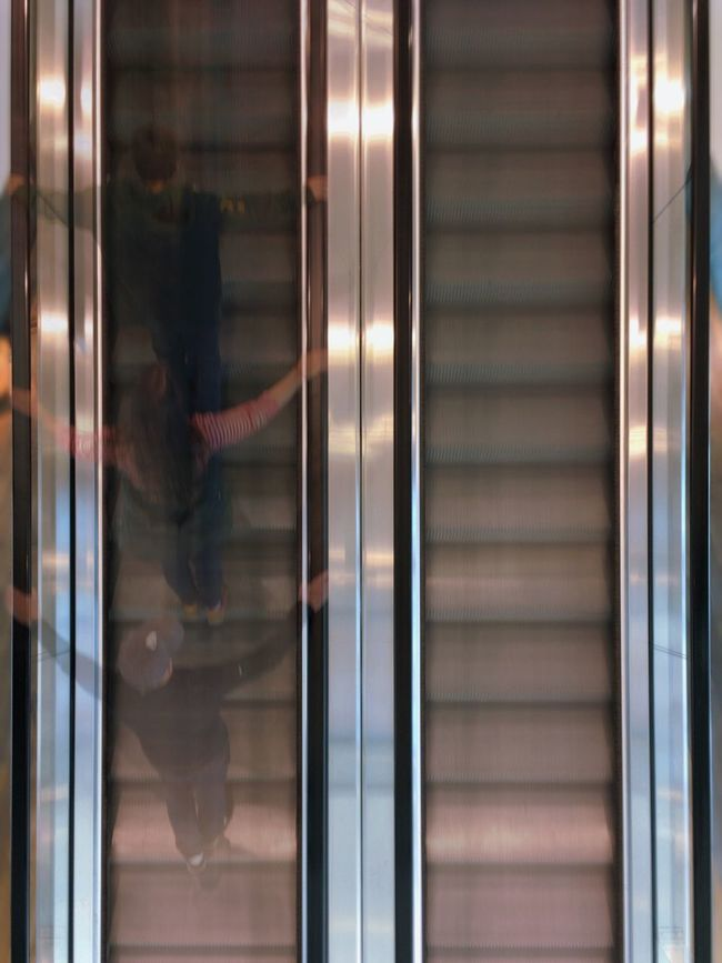 Children on a moving staircase Capturing Motion Childhood Children Elevator High Angle View Indoors  Kids Movement Movement Blur Movement Photography Moving On The Move Parallel Parallel Lines People People Watching Person Real People Staircase Stairs Upwards Urban Urban Geometry Urban Lifestyle