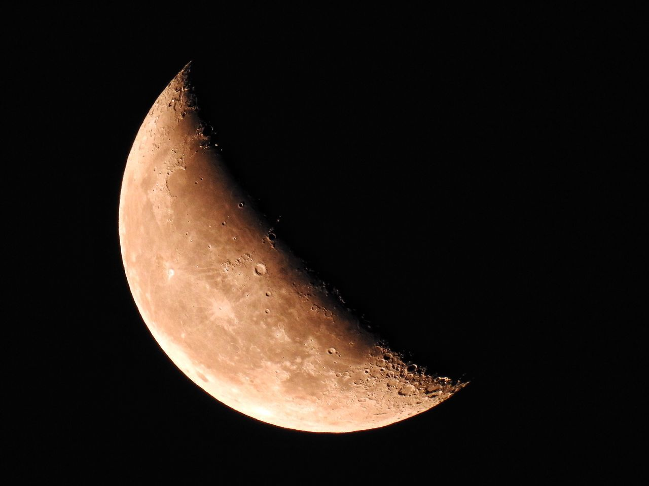 night, moon, astronomy, moon surface, beauty in nature, planetary moon, space exploration, nature, scenics, copy space, half moon, no people, clear sky, tranquility, outdoors, low angle view, space, close-up, sky, crescent, satellite view