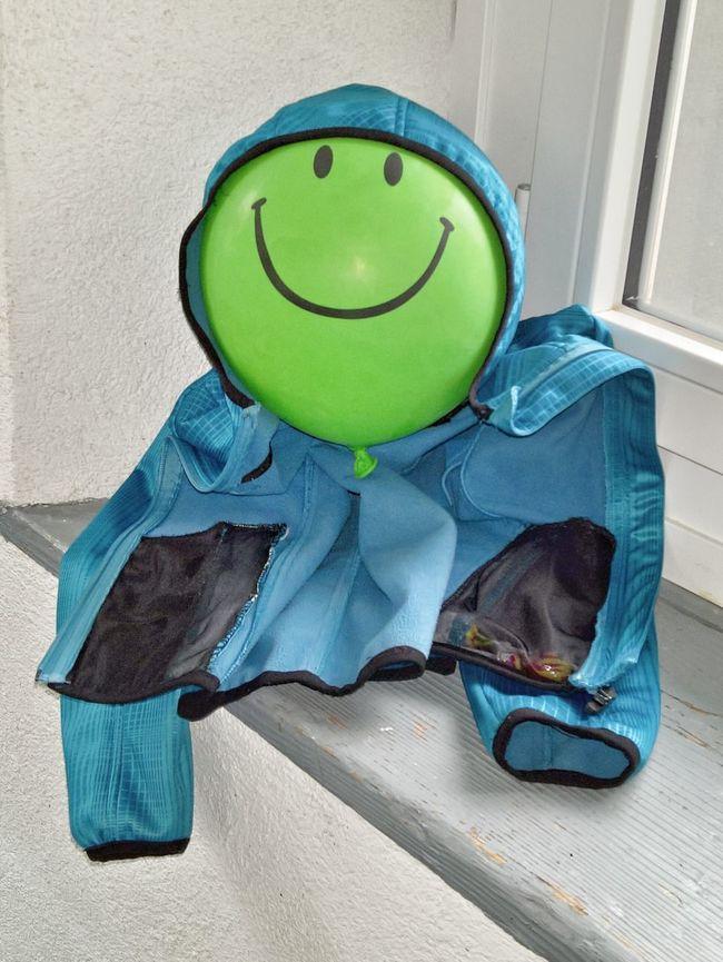 Mister Balloon-Man Green Balloon Green Green Color Jacket Blue Jacket Blue Blue Color Smile Joke The Architect - 2016 EyeEm Awards