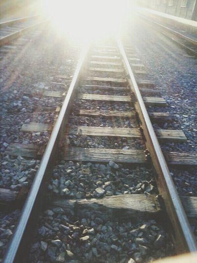 Train Railway Rails Rail Vanishing Point Simple Photography Urban Old