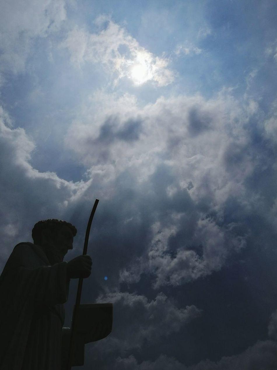 Praying Praising The Lord Enjoying The Sights Walking Angel Praying Father Taking Photos Sky