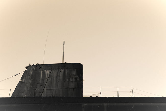 Architecture Clear Sky Flores History Industry Lorient Low Angle View Sous-marin Submarine
