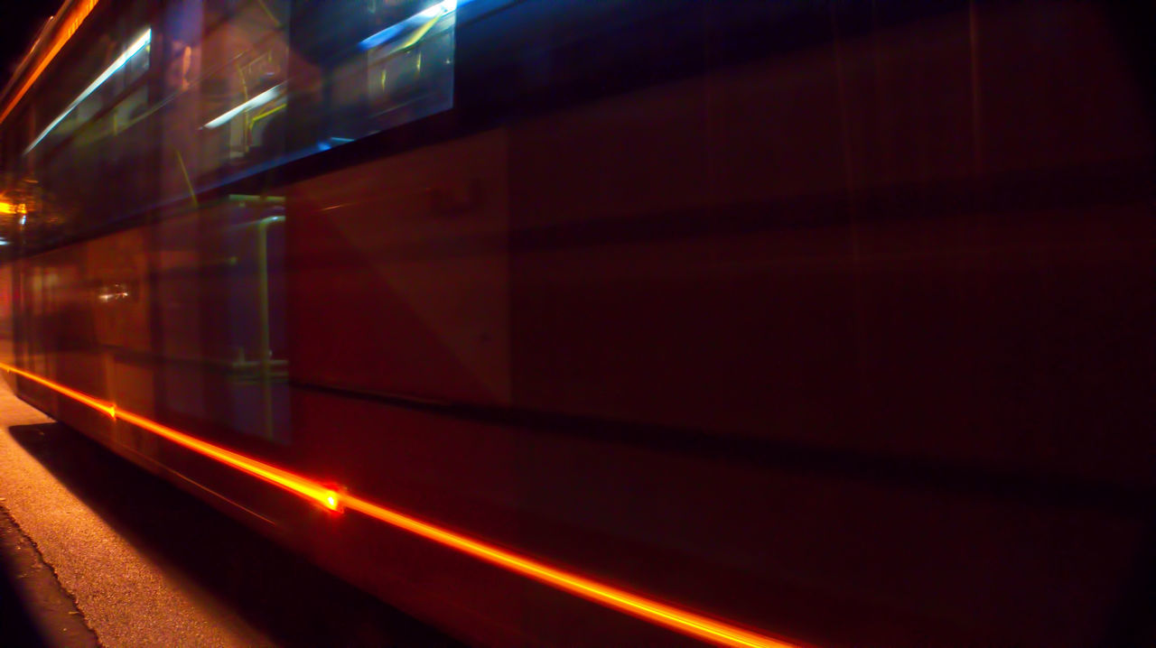 a speeding bus in the night B Color Colors Drive Illuminated Indoors  Machine Motion Night Nightphotography No People Public Transportation Road Scenic Scenics Shutter Shutter Speed Sleeping SP Street Photography Subway Station Tansportation Transportation Urban Urban Photography