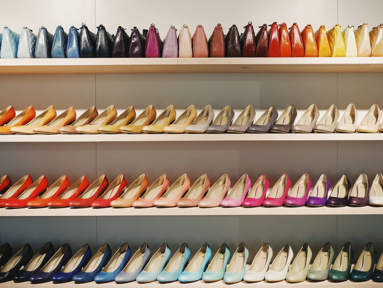 In A Row Shelf No People Large Group Of Objects Indoors  Day Close-up Shoes Bags Shopping Shoe Addiction