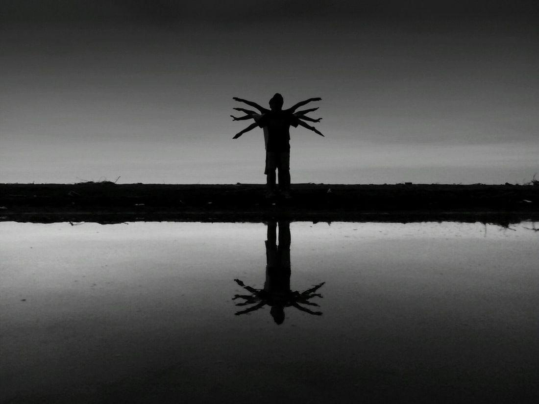 """thousand hand dance"" Blackandwhite Photography EyeEm Best Shots - Black + White Reflection_collection Kreatif Taking Photos Indonesia_allshots BeautyfullIndonesia Pekalongan Hello World Surobayan"