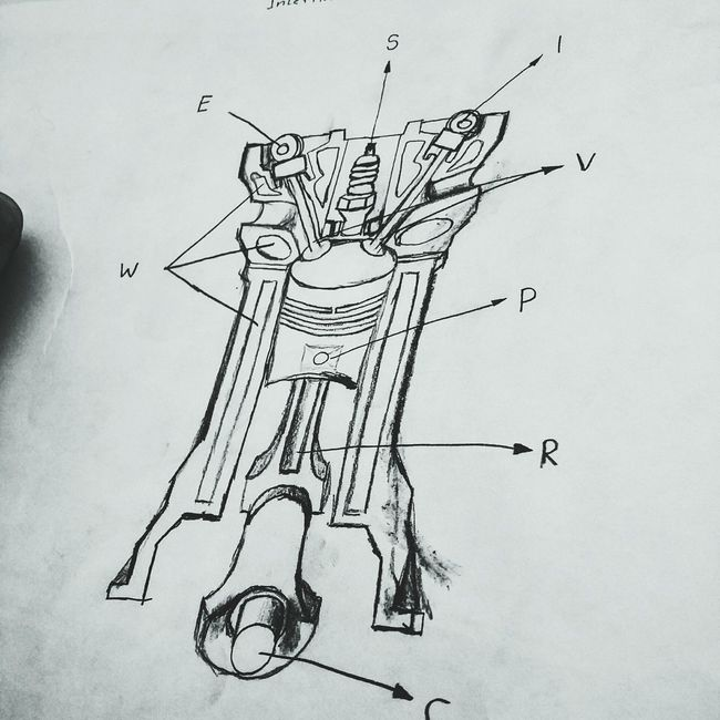 Dewing Freehandsketch Internal Combustion Engine My Class