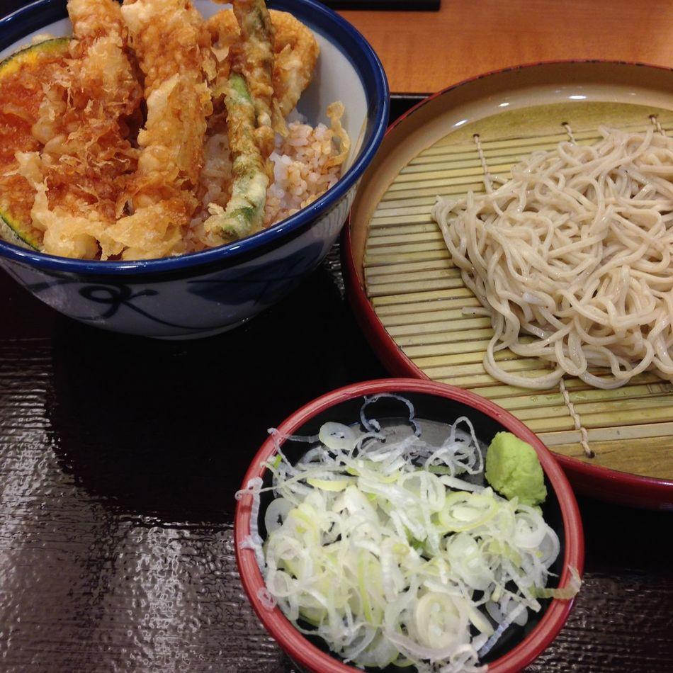 Fast Food Japanese Food Lover Soba Noodles Tempura