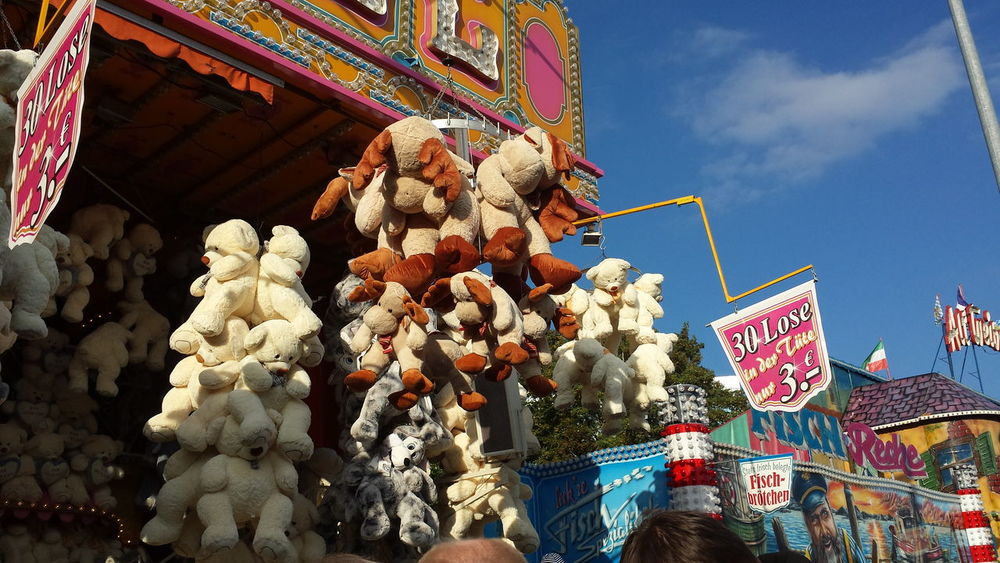 Funfair Funfair Streetphotography Funfair Photography Winning :teddies And Toys Multi Colored Blue Sky Atmosphere