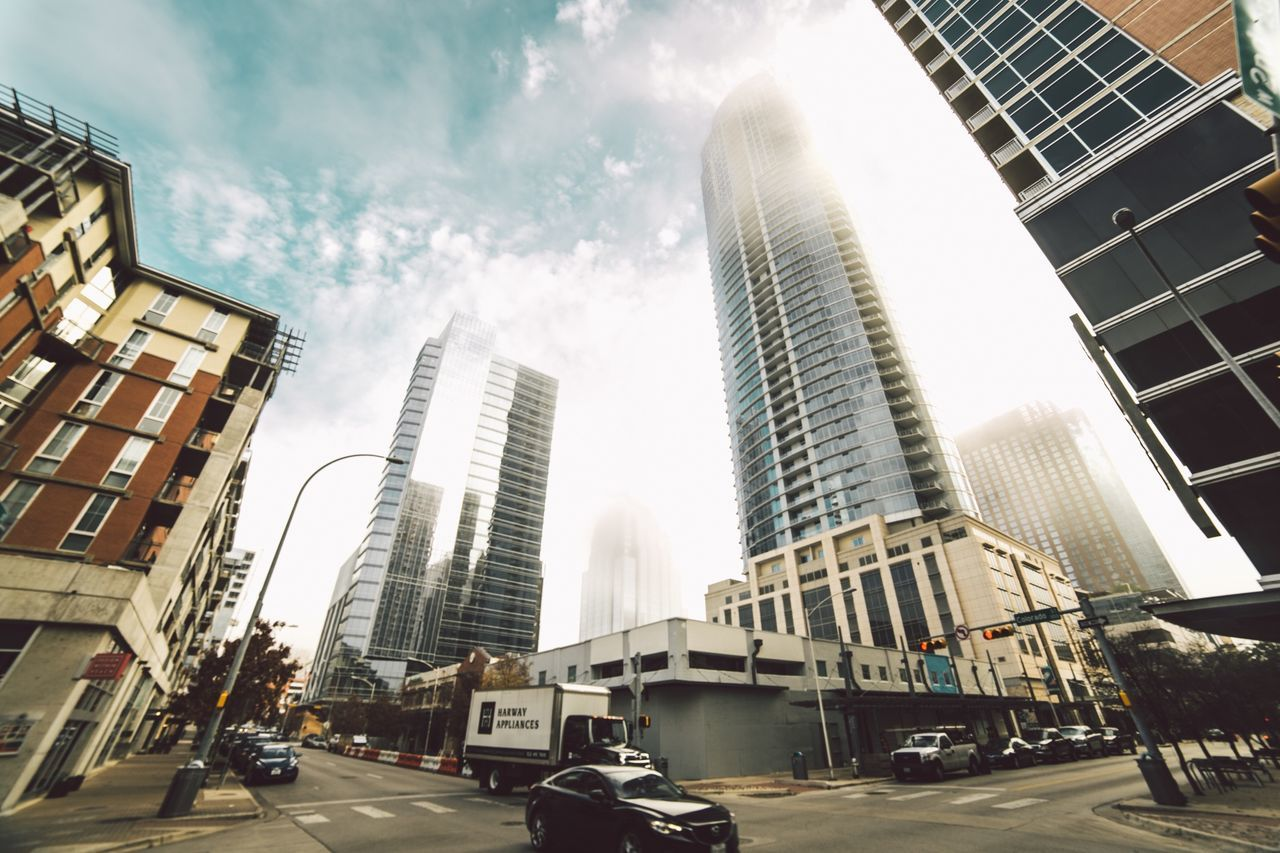 Beautiful stock photos of wolken, city, skyscraper, city life, architecture