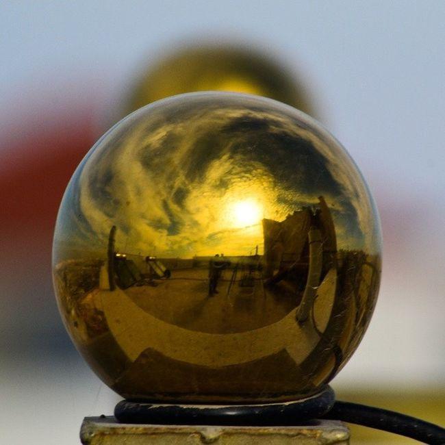Golden Ball Sky Sky_masters skyviewers reflection clouds amman seeamman beamman spiritofjordan jordan