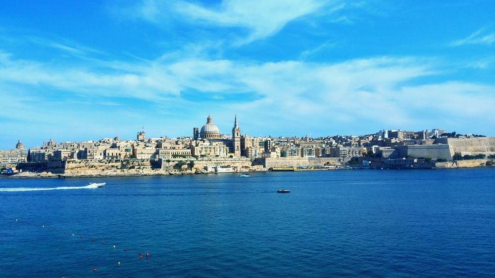 Sea And Sky Malta2014 Valletta From My Point Of View Sky And Clouds Landscape Sea Side Cityscapes OpenEdit Architecturelovers