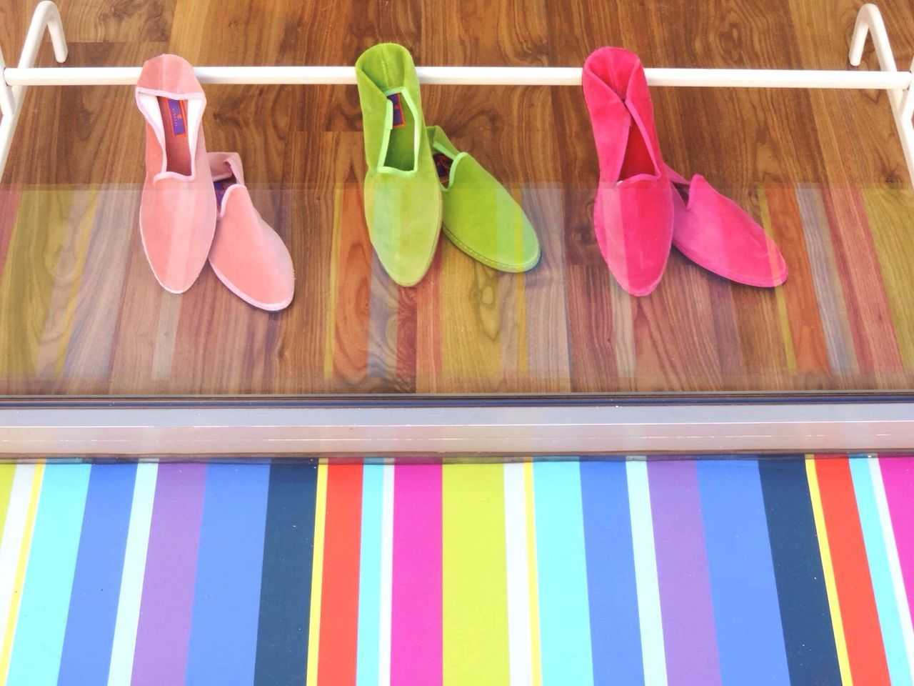 Shop Around The Corner Colours Slippers Stripes Shadows And Shades