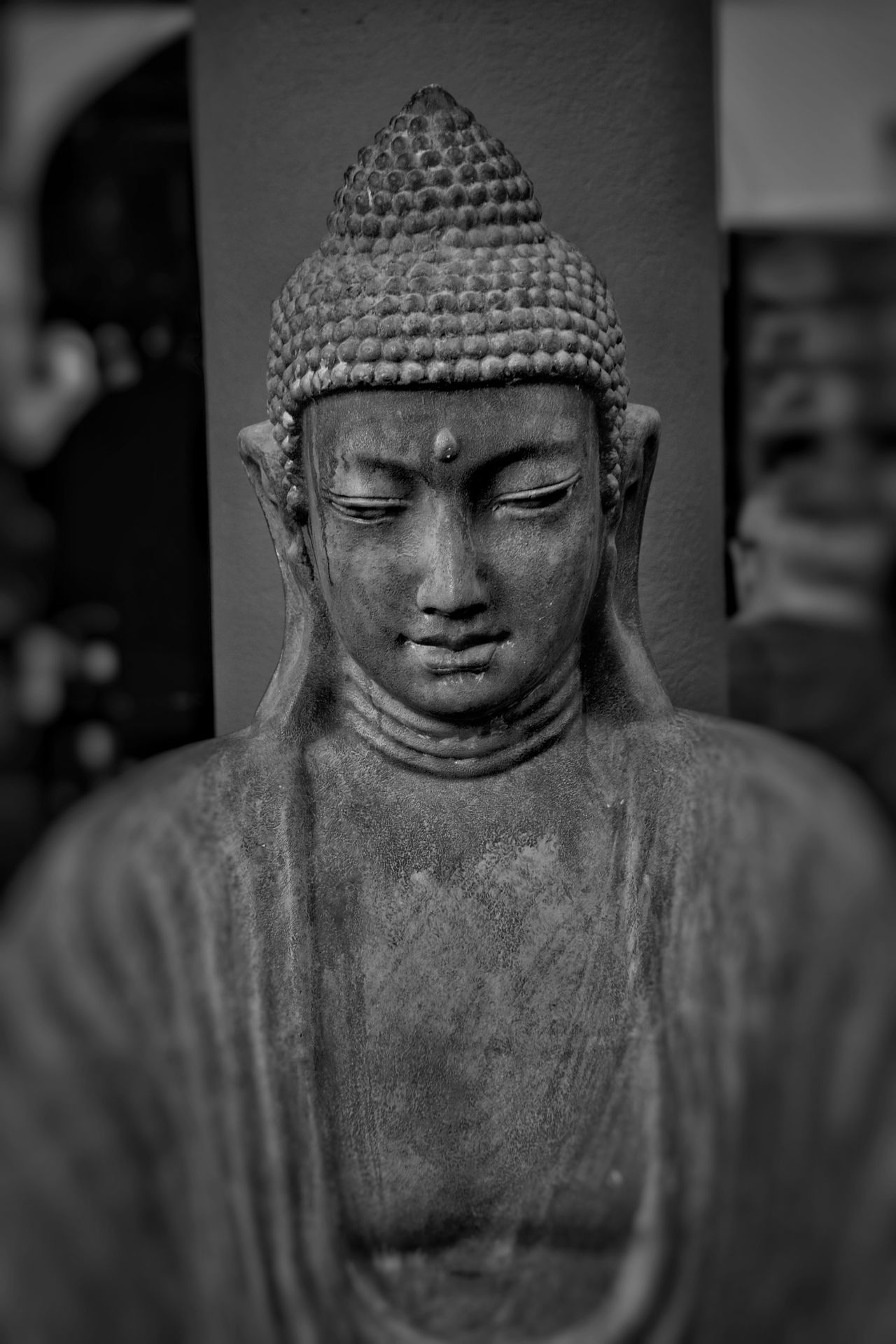 Silence Architecture Budhha Statue Close-up Cultures Day Grey Men Outdoors People Religion Sculpture Statue Straight First Eyeem Photo