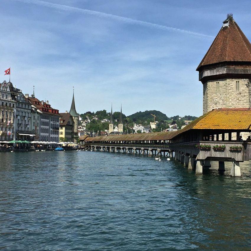 Lake Lucerne TheChapelBridge Watertower Traveling Switzerland The Traveler - 2015 EyeEm Awards Enjoying The View Europe Bridge Water_collection