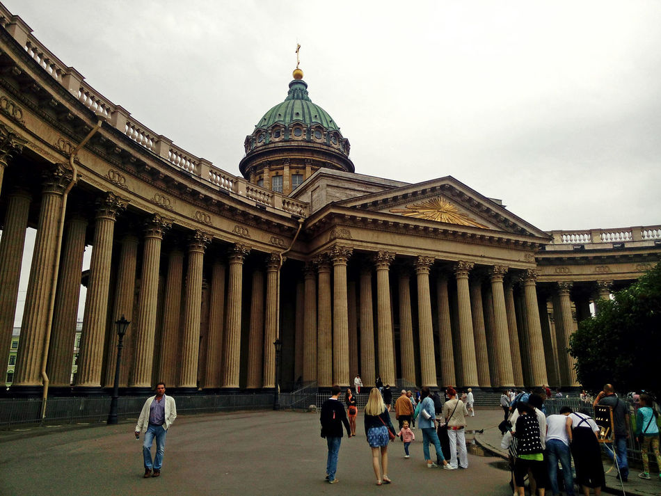 Architecture Travel Destinations Architectural Column Government City Travel History Dome People Group Of People Outdoors Санкт-Петербург Питер St.petersburg Самый лучший город Kazan Cathedral Cathedral казанский собор Russia собор колонны купол памятник культуры Cultural Monument Monument