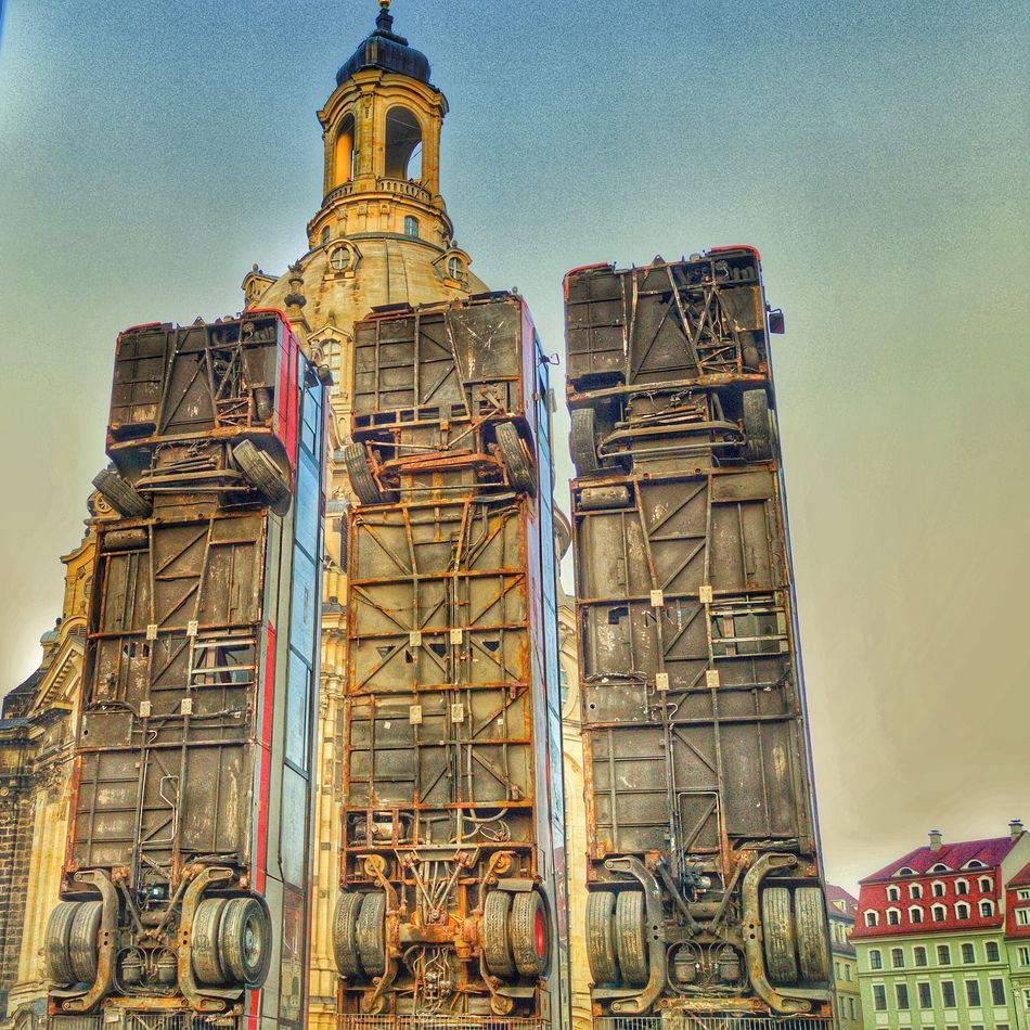 Sky Industry Architecture Outdoors No People Day Metal Industry Frauenkirche Frauenkirche Dresden Dresden - Barock Statt Beton Dresden / Germany Architecture Communication Textured  Abstract City Building Exterior