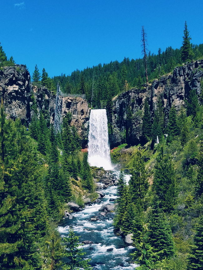 Tumalo Falls Bend Oregon Central Oregon Waterfall Trees Hiking Adventure Exploring Water