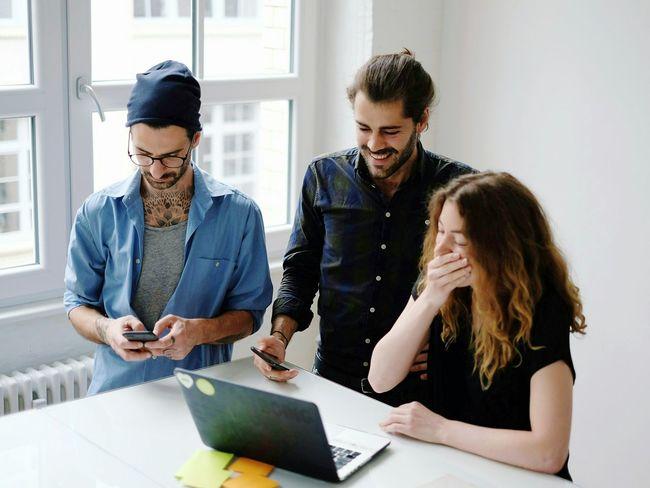Friendship Startup Teamwork Place Of Work Business Office Technology