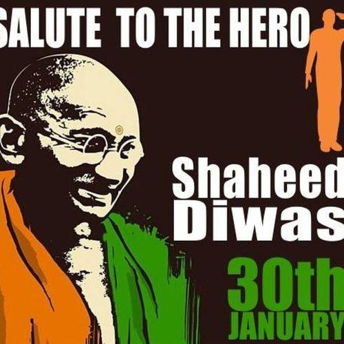 शहीद दिवस एवं महात्मा गान्धी जी की पुण्यतिथि पर शत्-शत् नमन।। Mahatmagandhi Gandhi ShaheedDiwas MytersDay