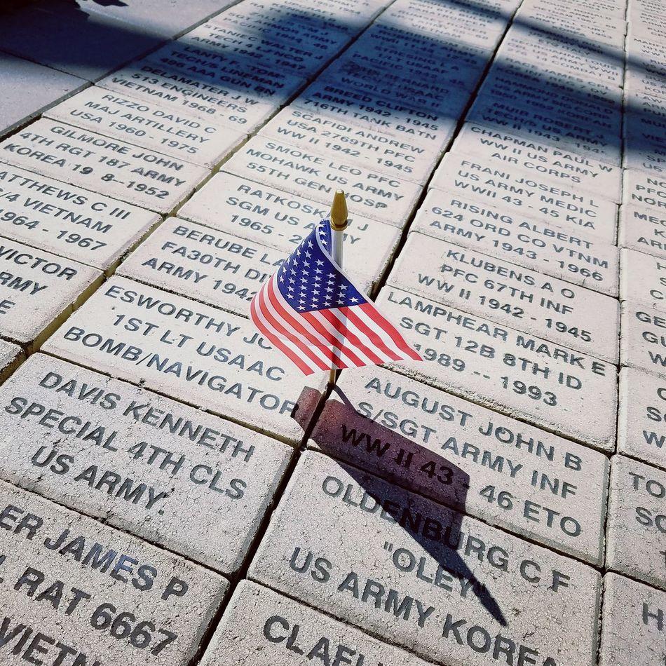 Veterans Veterans Memorial Close-up Shadow And Light Syracuse Ny Memorial Park No People