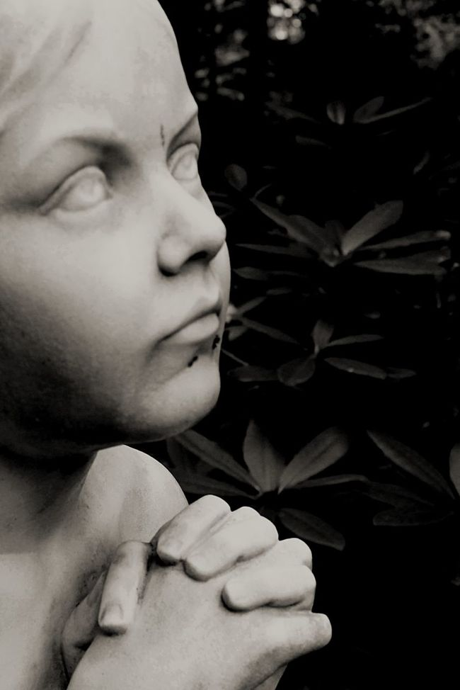 Cemetary Beauty Angel Statue Praying Close Up Black And White Photography Graveyard Beauty Historic Cemeteries Little Child Set In Stone Eternal Peace