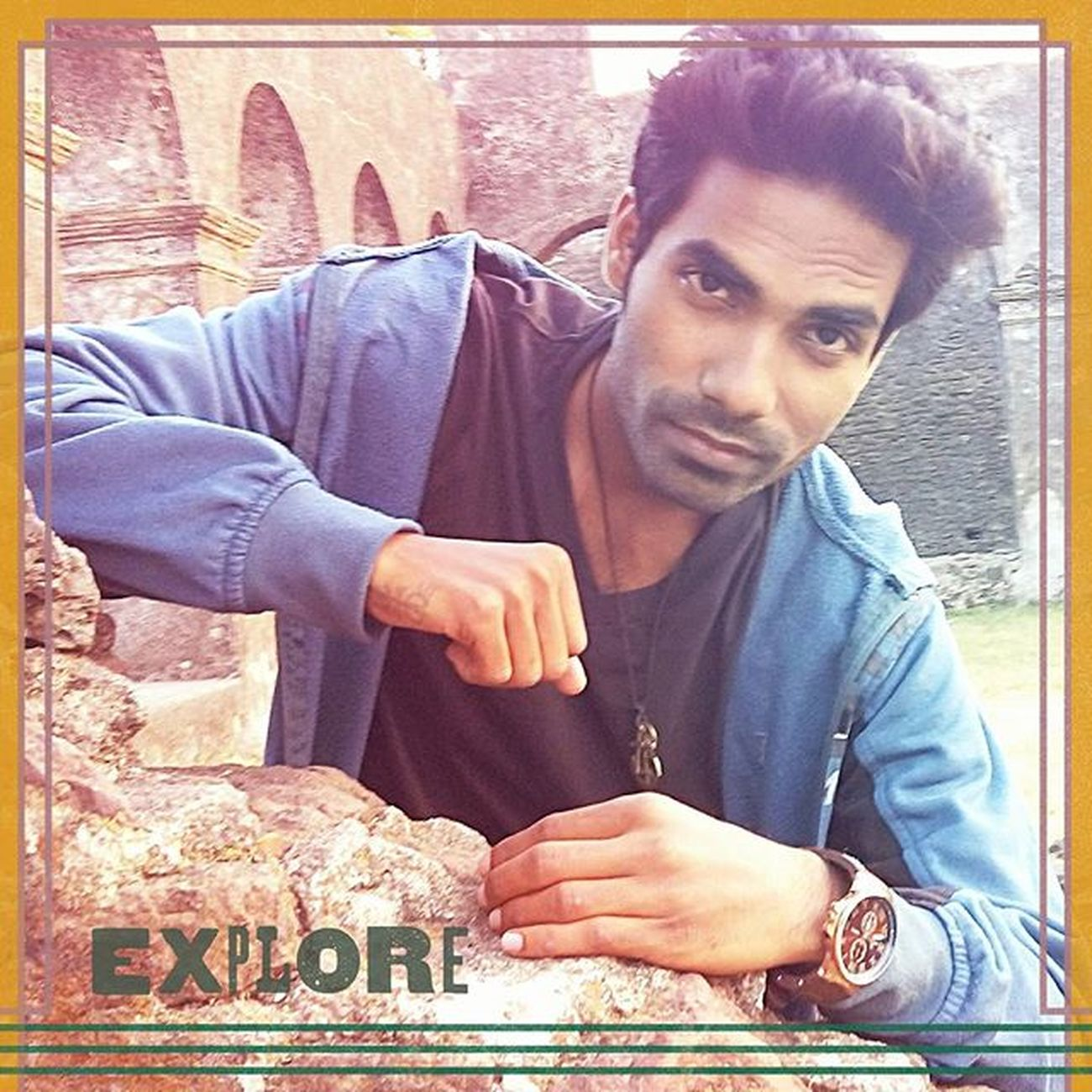 """You always stop and stare, why not just take a picture of me ?"" Mrrob Robinraj Mrcool Awesome DamanJT Fort Cool Explore Edit Eknö Photopose Outdoor Photography Best  Ever"