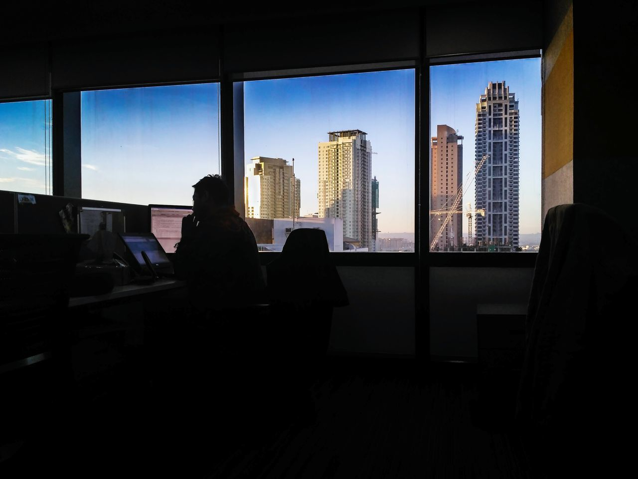 Office mornings. Silhouette Eyeem Philippines LitratongPinoy Officelife City Life Cityscape Skyscrapers Everyday Philippines Mobile Photography Xiaomi Xiaomi Redmi 3 Pro