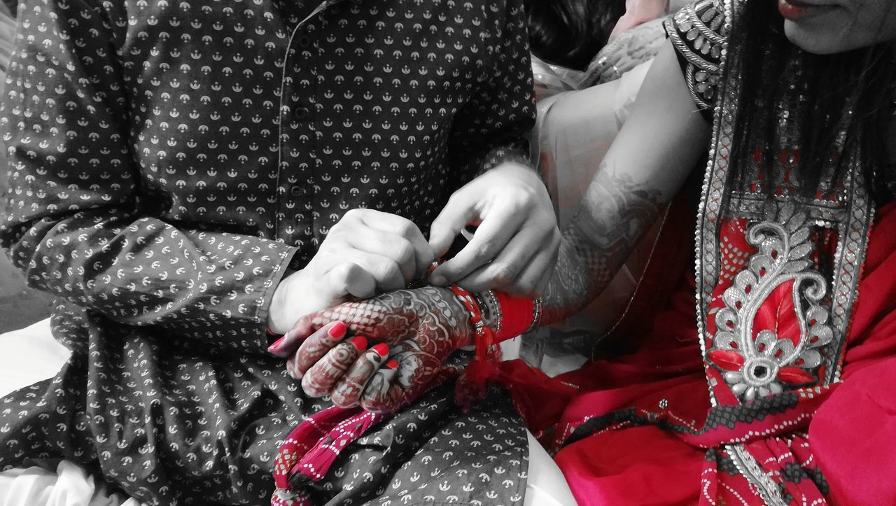 Red Adult Human Hand Human Body Part Two People Women Celebration Indoors  EyeEm Gallery Art Is Everywhere BYOPaper! EyeEmNewHere EyeEm Best Shots Party - Social EventOnly Women Lifestyles Real People Close-up Day Bride Wedding Dress Young Adult Marriage Ceremony MARRIED ♡♡♡♡♡ Celebration