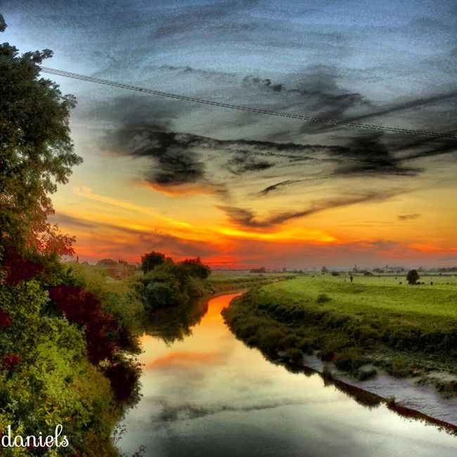 been a while since I got the sunsetting over the river Sky_collection Landscape_Collection Photooftheday EyeEm Nature Lover