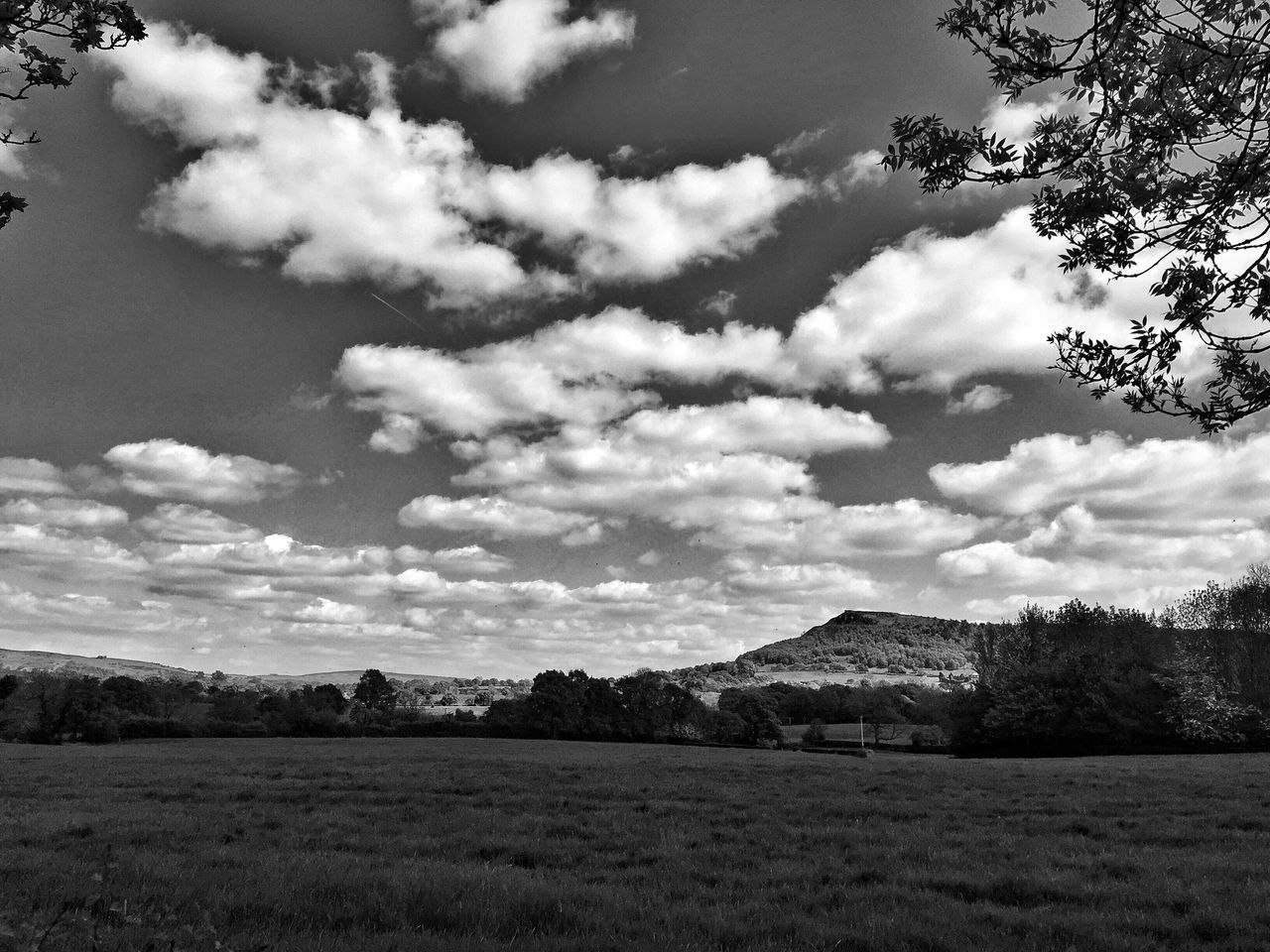 Landscape near Congleton, Cheshire Black And White Blackandwhite Photography Landscape_photography Landscape_Collection Landscape Cheshire Clouds And Sky