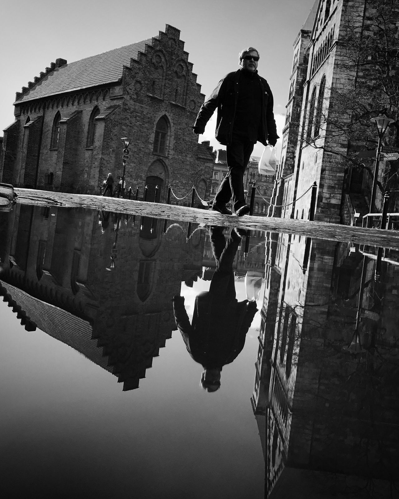 Reflection Architecture Water Street Photography Bw_collection Black And White Monochrome Low Angle View