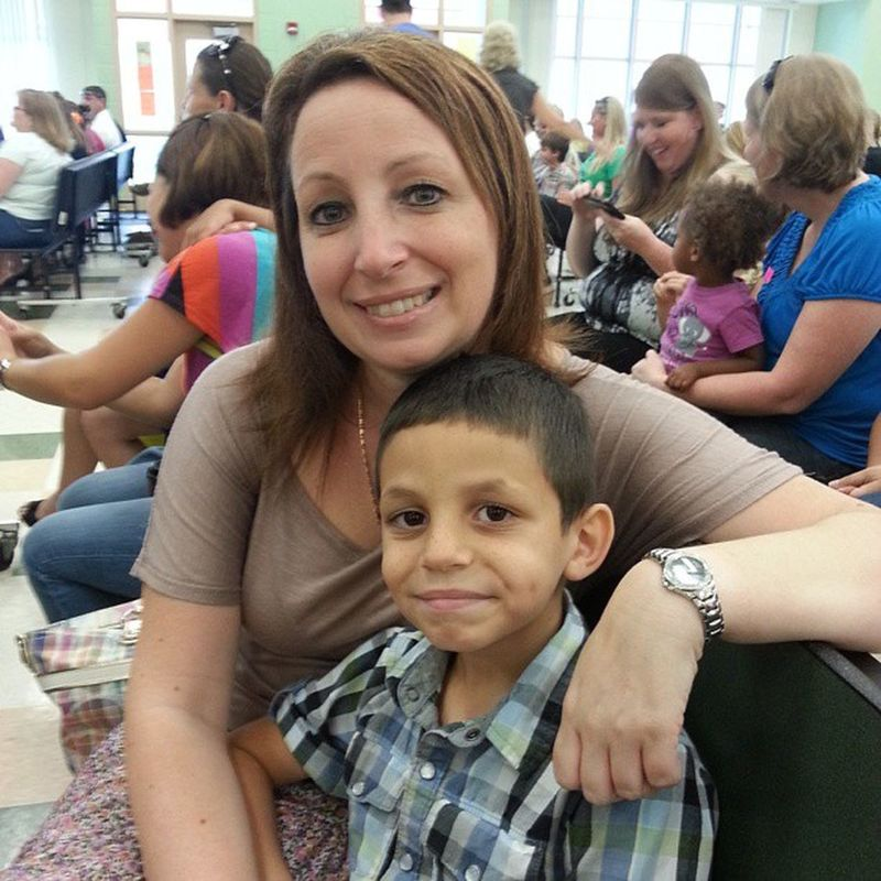 Momma and her boy! Student of the month @pascoschools Oakstead elementary May 2013