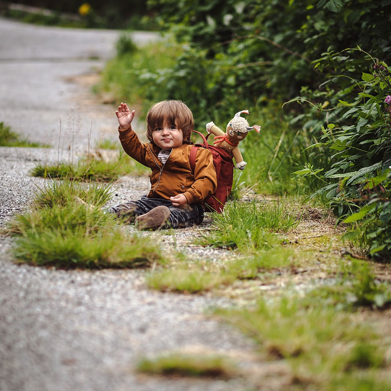 Kindergarten next Toddler  Children Kindergarten Outdoors Portrait Trip Nature Children Photography Child On The Road Hiking Olympus Olympus 75 1.8 Omd Mft
