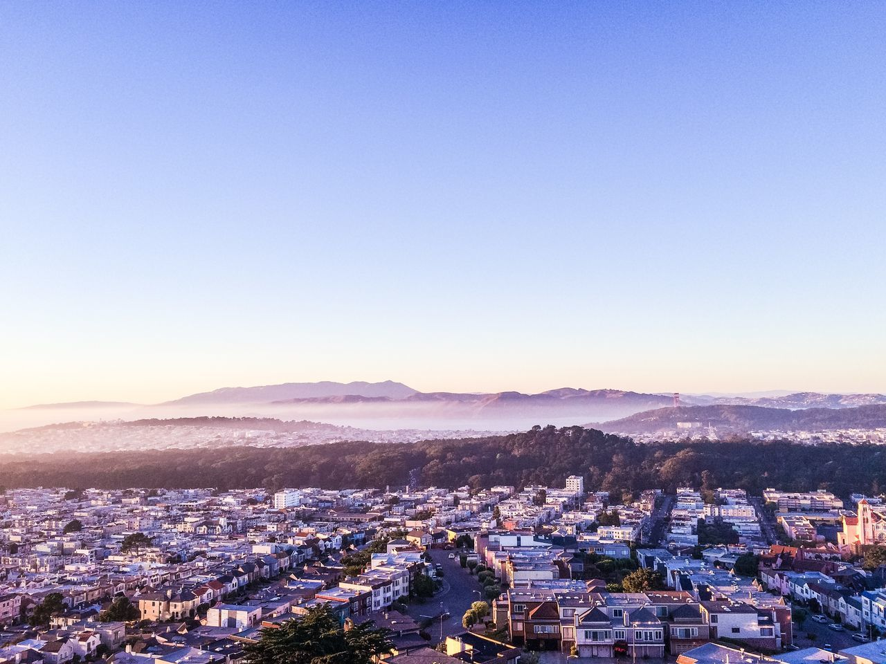 City San Francisco SF Sunset Sunset District Golden Gate Park Grand View Park サンフランシスコ 住宅街 カリフォルニア アメリカ Fog
