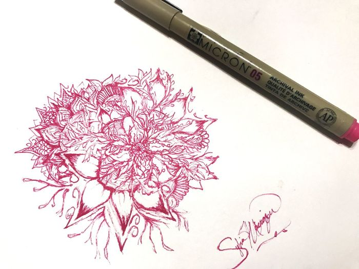 One of my drawings ... •ORIGINAL• if you would like to see more of my drawings pls say so .. 😊. Selftaught Art Original Flowers Draw Design Nature Idodifferenttypeofdrawings But Can't Copy . Or Redo As Well.