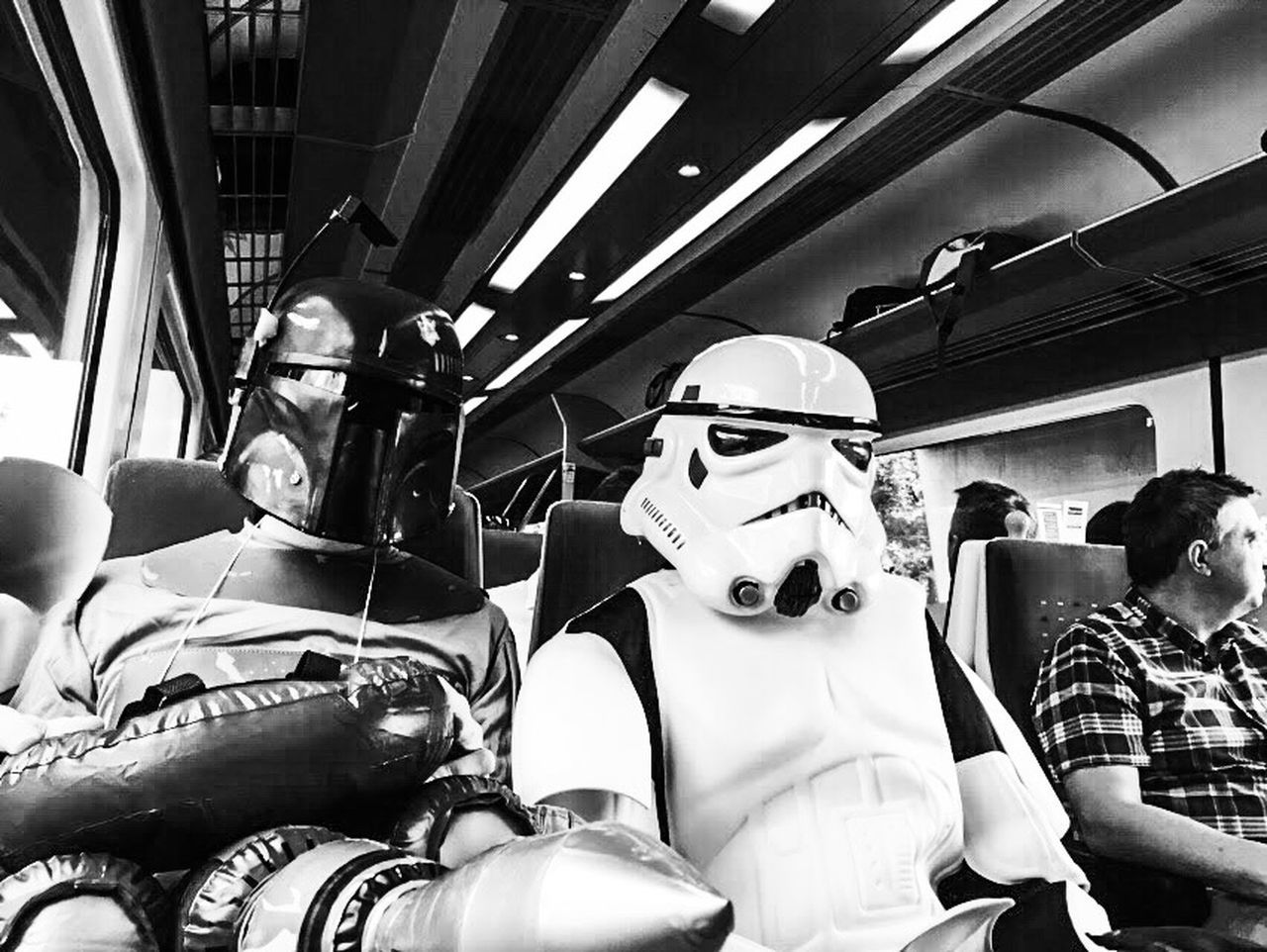 Train Troopers Vehicle Interior Transportation Mode Of Transport Vehicle Seat People Adult Men Friendship Indoors  Day EyeEmNewHere Train Science Fiction Scifi EyeEmNewHere EyeEmNewHere