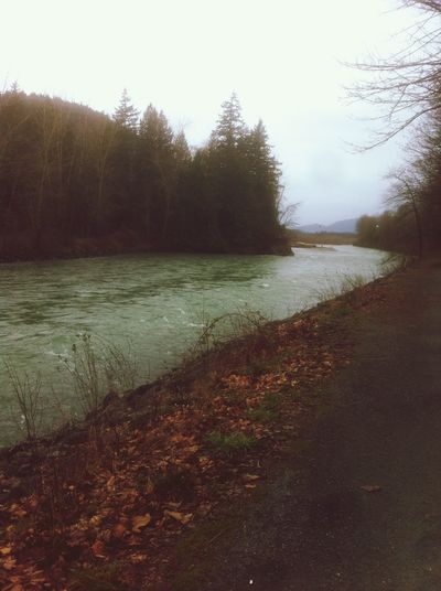 The river in the late winter, I guess. Nature