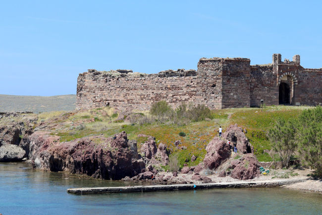 Architecture Cliff Fort Fortress Greece History Lesbos Lesvos Old Ruin Pier Rock Rock - Object Rock Formation Scenics Sky The Past Tourism Tranquil Scene Tranquility Travel Destinations Water