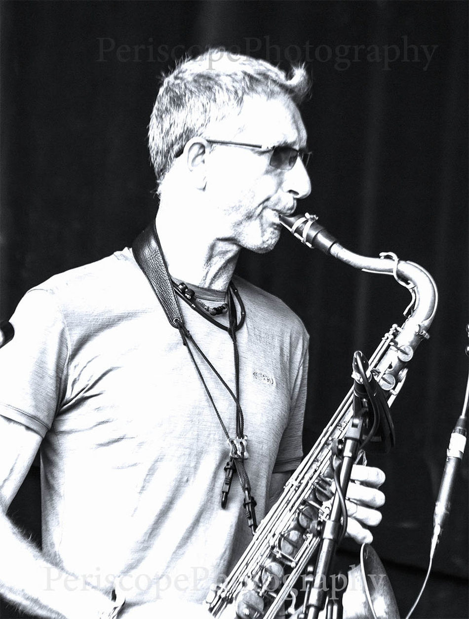 Saxophonist Snake Davis Arts Culture And Entertainment Black And White Musical Instrument Musician Performer  Saxophone Saxophonist Snake Davis