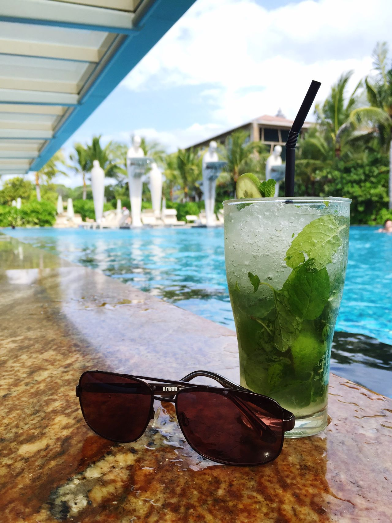 Relax and chilling at the pool Showcase July