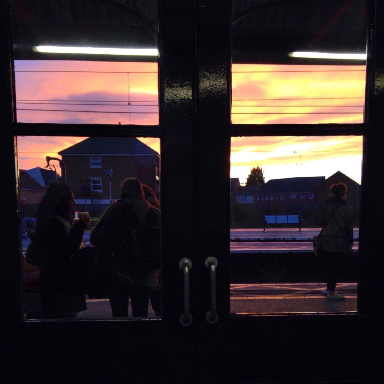 Through the window Sunset Traveling