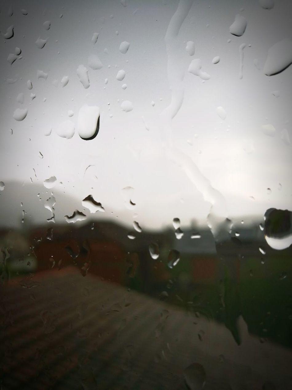 Window Sky Rainy Days Relaxing