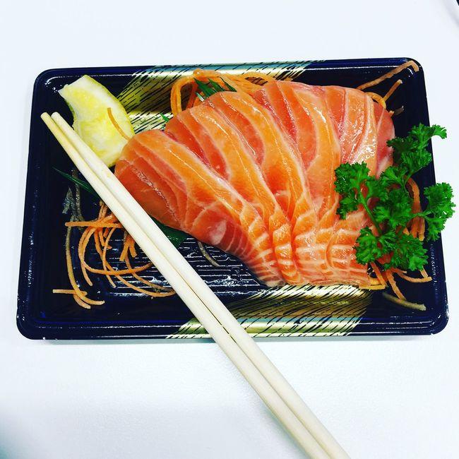 First Eyeem Photo Foodporn Foodphotography Sushi Sashimilovers Salmon Sashimi Japanese Food Orange Color