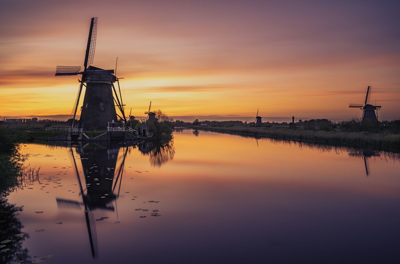 A 172 seconds long exposure from the iconic Windmills of Kinderdijk. It's another world with such a long exposure :-) Alternative Energy Beauty In Nature Dutch Environmental Conservation Europe Happy Holiday Holland Kids Lake Nature No People Outdoors Reflection Remo SCarfo Scenics Sky Sun Sunset Sunset_collection Touristic Tranquil Scene Travel Destinations Wind Power Windmill