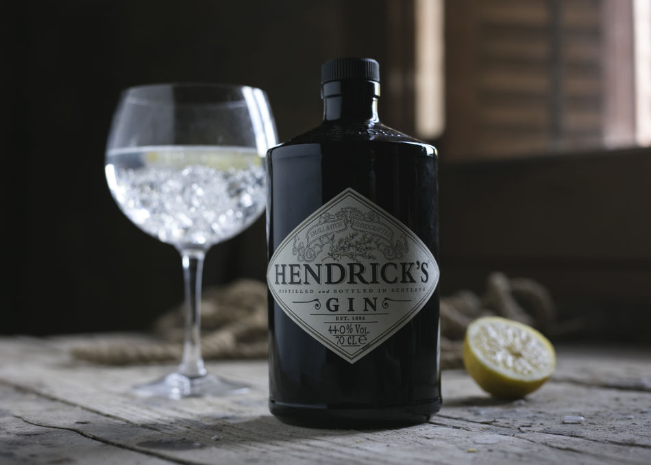 Drink Drinking Drinks GIN Gin Tonic Hendricks Gin Ice Lemon Ready To Drink Still Life